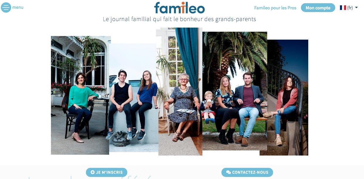 site mono-produit Famileo