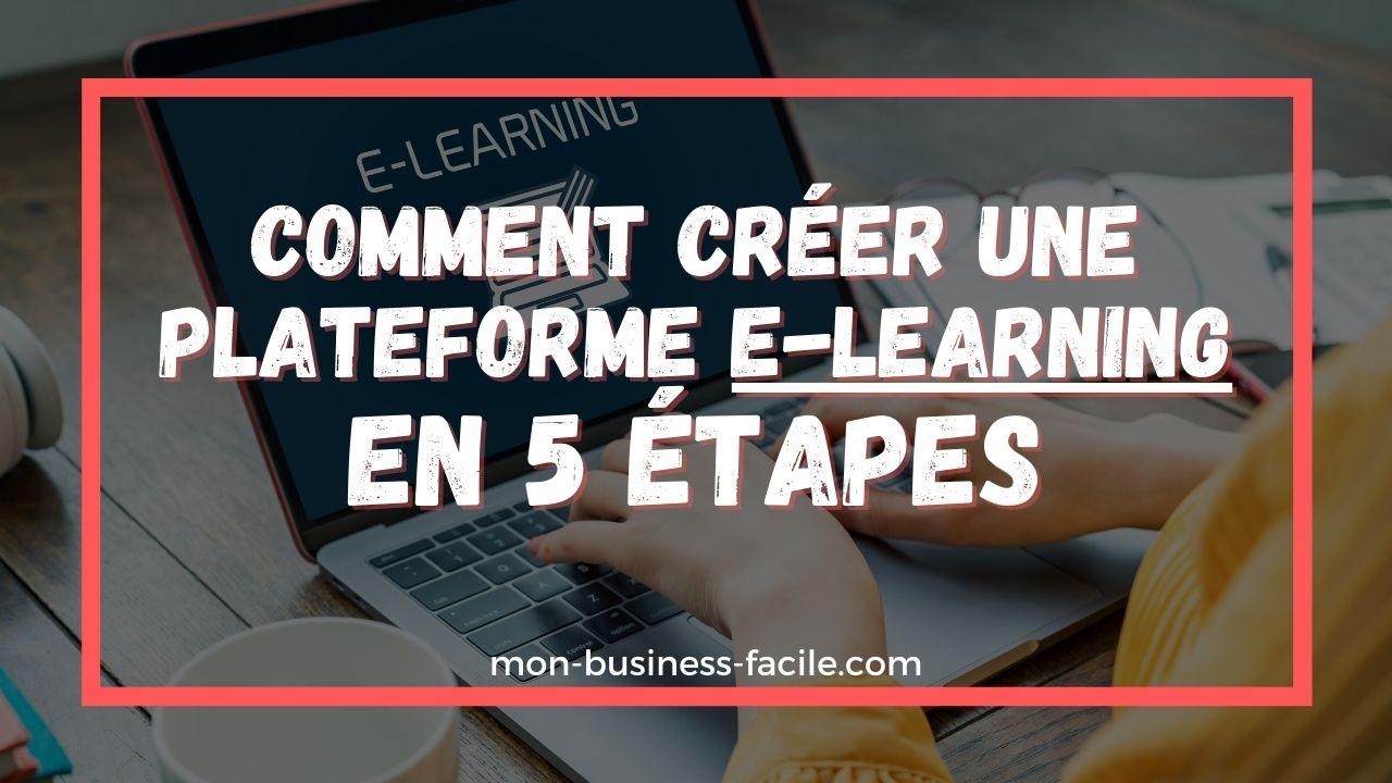 créer une plateforme de E-learning